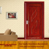 MDF Veneer Room Door with Flower Carving (GSP8-007)