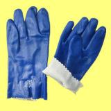 Голубая втройне окунутая перчатка работы отделки PVC точная Sandy
