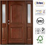 Portello di legno di legno solido del portello/portello del legname con vetro