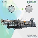 Estirador de tornillo y sistema gemelos de la granulación para el plástico del animal doméstico