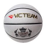 Basket-ball estampé par dimensions et poids officielles argentées de panneaux de la couleur 8