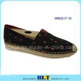 Chaussures occasionnelles de chaussures de configuration de POINT de toile de qualité