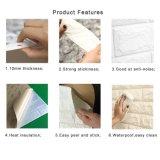 Papier peint extensible de blocs de mousse de mur de revêtement de décoration texturisée à la mode de pièce
