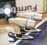 탄알 Desin 유연한 소형 클립-온 클립 LED 책 빛, Worklight 독서용 램프 플래쉬 등, 형식 단추 건전지 플래쉬 등