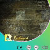 suelo laminado resistente de agua de la textura de la viruta de 8.3m m