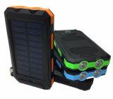 Neue 20000mAh imprägniern Solarkanal-Energien-Bank bewegliche Powerbank Aufladeeinheit der aufladeeinheits-2 LED Llight 2