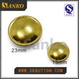 Professionnel dans le bouton de partie lisse militaire de placage fait sur commande dans la couleur de laiton et d'or