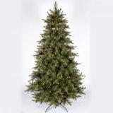 Árvore de Natal artificial de venda quente do ano novo do PVC com luzes do diodo emissor de luz
