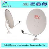 Напольное спутниковое телевидение Receiver тарелки антенны 75cm Antenna