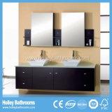 Gabinete de banheiro dobro High-Gloss da bacia do espaço de armazenamento da pintura grande (BF120D)