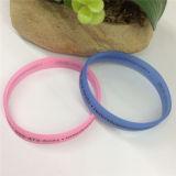 Singoli braccialetti della gomma di silicone del commercio all'ingrosso di stampa di colore