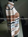 Suéter que hace punto rayado colorido 100%Cotton para las mujeres/las señoras