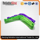 Tipo redondo macio impresso GS cintas de levantamento resistentes do poliéster do Ce