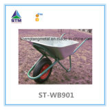 Wheelbarrow cor-de-rosa inoxidável da cor (WB5009)