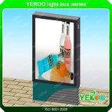 Знак светлой коробки напольный рекламировать города статический