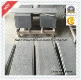Mattonelle di pavimento fiammeggiate nere grige del granito della Cina per stanza esterna