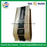 Alle Arten Kaffee-Beutel mit Ventil u. Zinn-Tae für mit Reißverschluss/Fastfood-/Aluminiumfolie/flache Unterseite/Braunes Packpapier