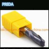 La nariz caliente de la bola de la exportación de China filetea HRC60 CNC Tisin