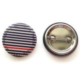 Distintivo a forma di rotondo all'ingrosso della parte inferiore del metallo con il marchio promozionale