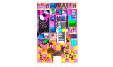 Cour de jeu d'intérieur de jouets de thème de sucrerie pour des enfants