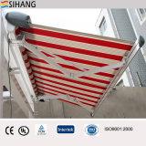 Tente latérale escamotable de patio des pieds 19*10 avec le moteur et le tissu acrylique teint par solution