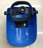 Mais baixas marcas de capacete de soldagem com lentes, azul Máscara de Soldador simples, Máscara PP Material, Máscaras Senior sombreamento Nível Welding Lens soldadura