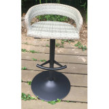 White Round Outdoor Hotel Table de rotin en osier pour jardin (FS-R003)