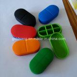 Случаи пилюльки 6-Отсека Eco-Friendly силикона медицинские