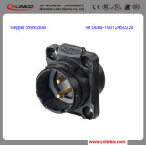BerufsManufacturer Wire Panel Mount Connector/Circular Electric Connector mit Black Shell