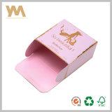 Caja de embalaje de papel de los cosméticos del perfume de la exportación con el sellado de oro de plata