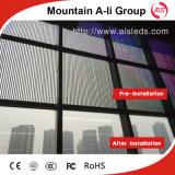 Acoplamiento al aire libre delgado ultra ligero/visualización de LED transparente