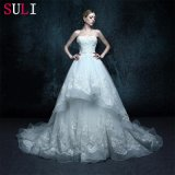 Real Photo Appliques Sweetheart Wedding Dress (ZXB-10)