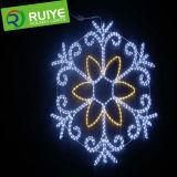 De Gelukkige Decoratie van Kerstmis van de LEIDENE Lichten van Sneeuwvlokken