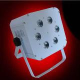 6PCS Draadloze LEIDENE van de Batterij van Rgbaw LEIDEN van het PARI Licht