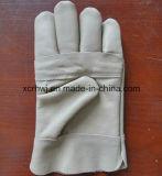 Горячее продавая Кевлар кожаный перчатки заварки с тумаком холстины, перчатки заварки TIG/MIG, кожу с сохранённым природным лицом коровы сваривая изготовление защитной перчатки