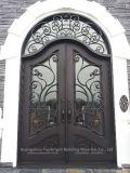 Puerta al aire libre moderna de la seguridad del metal del hierro labrado de la entrada