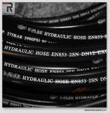 SAE100 R2 gewundenes flexibles Hochdrucköl-hydraulischer Gummischlauch