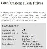 Mecanismo impulsor a todo color del flash del USB de la insignia del negocio de la tarjeta de encargo del tecleo