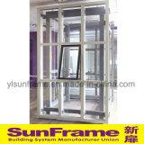Mur rideau glaçant en aluminium avec le système imperméable à l'eau grand