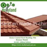 A pedra lasca telha de telhado revestida do metal (o tipo romano)