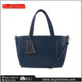 Escuro - saco de Tote azul das mulheres dos Tassels do plutônio