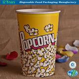 Popcorn Bowl Grand récipient en papier, bac réutilisable Canapé de cinéma