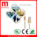 Микро- кабель Smartphone кабеля данным по USB мобильного телефона кабеля заряжателя данных--Золото с серым цветом