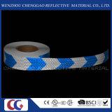 Cinta amonestadora reflexiva de la flecha azul y blanca de la alta calidad (C3500-AW)