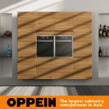 Cabinas de cocina de madera del PVC del diseño moderno de la Todo-Isla de Oppein (OP16-PVC02)