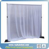 Le blanc drape pour la pipe utilisée par mariages et drape en vente