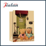 Toy Bear impresso Brown Kraft Paper Shopping Gift Paper Bag