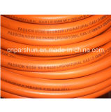 Orange Oil Resistant Rubber Material Fiber Braided LPG Gas Hose with 3/16''
