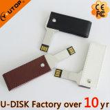 선전용 선물 회전대 가죽 쉘 금속 키 USB 8GB 16GB 32GB