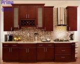 Gabinete contínuo elevado da madeira do gabinete de cozinha da laqueação do lustro